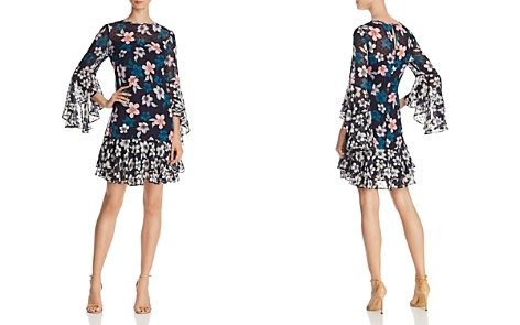Eliza J Floral Bell-Sleeve Dress - Bloomingdale's_2
