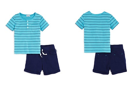Splendid Boys' Striped Henley Tee & French Terry Shorts Set - Baby - Bloomingdale's_2