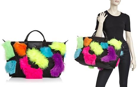 Longchamp x Jeremy Scott Faux-Fur Trim Travel Bag - Bloomingdale's_2