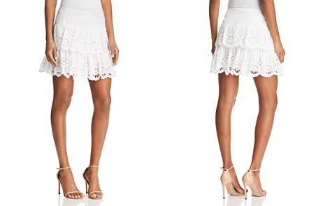 Rebecca Minkoff Nell Tiered Eyelet Mini Skirt - Bloomingdale's_2