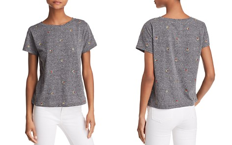 Honey Punch Flower Embroidered Tee - Bloomingdale's_2