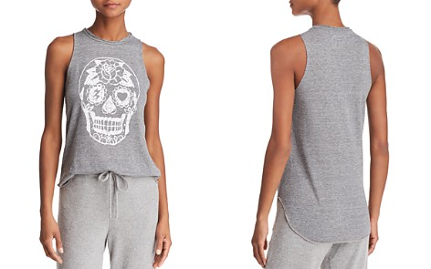CHASER Sugar Skull Graphic Tank - 100% Exclusive - Bloomingdale's_2