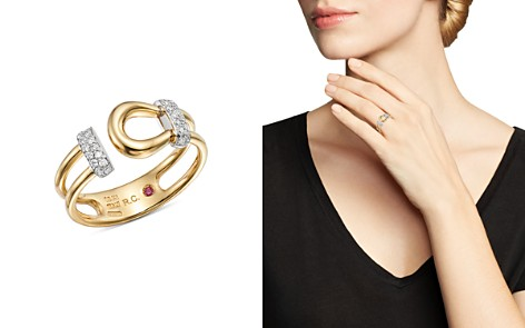 Roberto Coin 18K White & Yellow Gold Classic Parisienne Diamond Ring - 100% Exclusive - Bloomingdale's_2