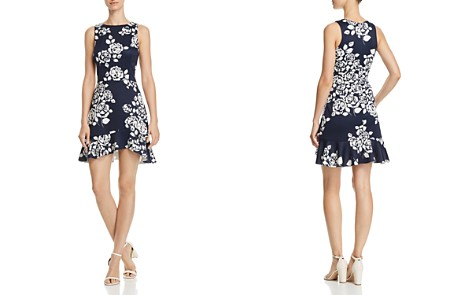 AQUA Rose Print Ruffle-Hem Dress - 100% Exclusive - Bloomingdale's_2