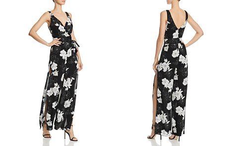 AQUA Floral Print Side-Slit Jumpsuit - 100% Exclusive - Bloomingdale's_2