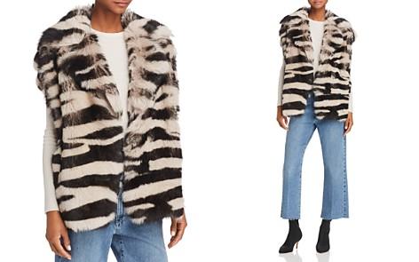 IRO.JEANS Zarl Zebra-Print Shearling Vest - Bloomingdale's_2