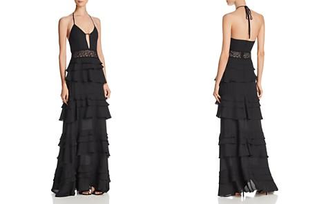 AQUA Tiered Halter Gown - 100% Exclusive - Bloomingdale's_2