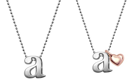 "Alex Woo Sterling Silver Little Letter A Necklace, 16"" - Bloomingdale's_2"