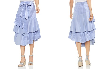 VINCE CAMUTO Tiered Striped Midi Skirt - Bloomingdale's_2