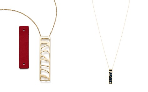 "Les Georgettes Perroquet Rectangle Pendant Necklace in Petrol Blu/Raspberry, 30"" - Bloomingdale's_2"