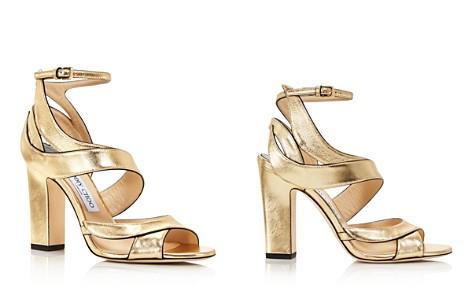 Jimmy Choo Women's Falcon 100 Leather High-Heel Sandals - Bloomingdale's_2