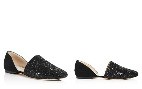 Jimmy Choo Women's Globe Glitter & Leather d'Orsay Flats - Bloomingdale's_2