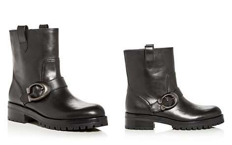 COACH Women's Leighton Leather Moto Boots - Bloomingdale's_2