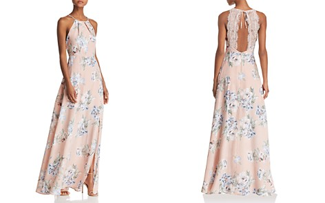 AQUA Lace-Back Floral Gown - 100% Exclusive - Bloomingdale's_2