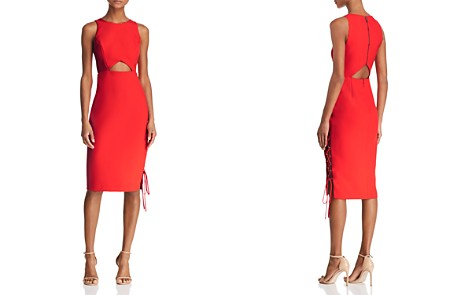 BCBGMAXAZRIA Cutout Crepe Dress - Bloomingdale's_2