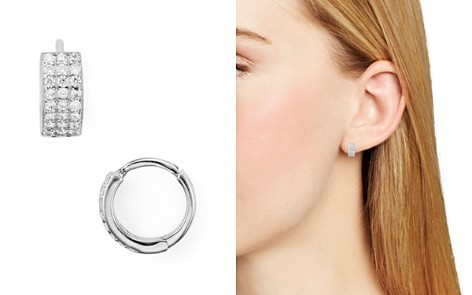 AQUA Small Triple Row Huggie Hoop Earrings - 100% Exclusive - Bloomingdale's_2