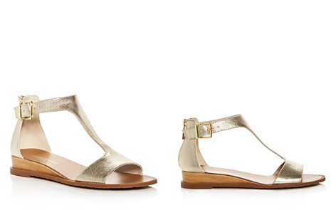 Kenneth Cole Women's Judd Leather T-Strap Demi Wedge Sandals - Bloomingdale's_2