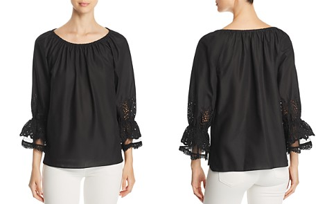 Le Gali Charly Eyelet Detail Top - 100% Exclusive - Bloomingdale's_2