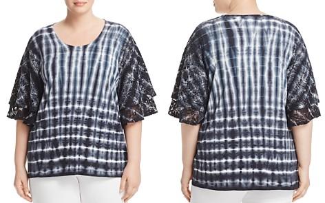 Love Scarlett Plus Tie-Dyed Lace-Sleeve Top - Bloomingdale's_2