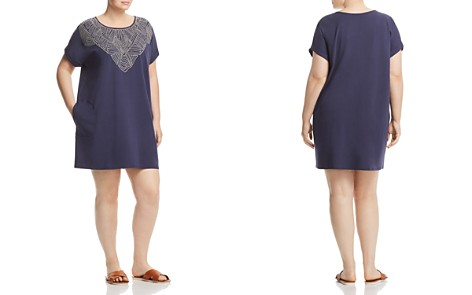 NIC+ZOE Plus Luna Embroidered Shift Dress - Bloomingdale's_2