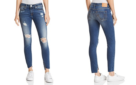 True Religion Halle Mid Rise Super Skinny Jeans in Broken Night - Bloomingdale's_2