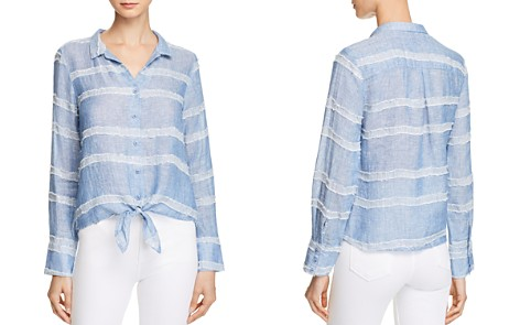 Bella Dahl Tie-Front Textured Stripe Shirt - Bloomingdale's_2