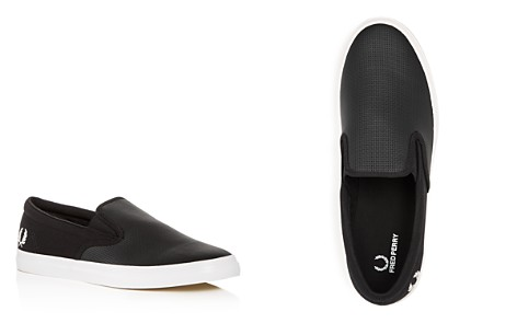 Fred Perry Men's Underspin Perforated Leather & Canvas Slip-On Sneakers - Bloomingdale's_2