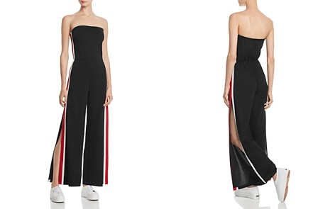 AQUA Strapless Track Jumpsuit - 100% Exclusive - Bloomingdale's_2
