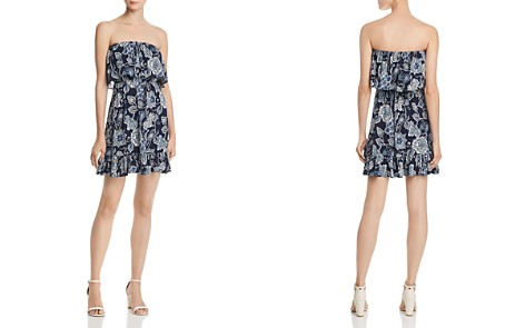 AQUA Floral Paisley Strapless Dress - 100% Exclusive - Bloomingdale's_2