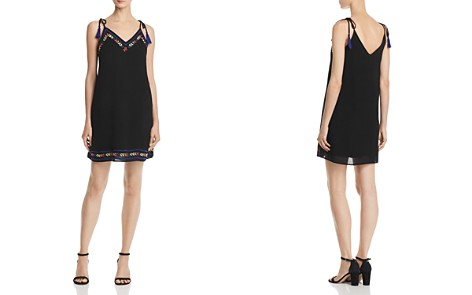 AQUA Tie-Strap Embroidered Shift Dress - 100% Exclusive - Bloomingdale's_2