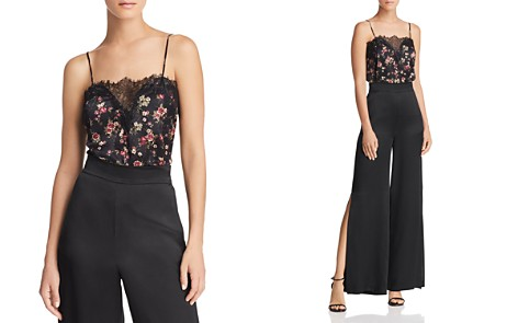CAMI NYC Printed Lace-Inset Silk Top - Bloomingdale's_2