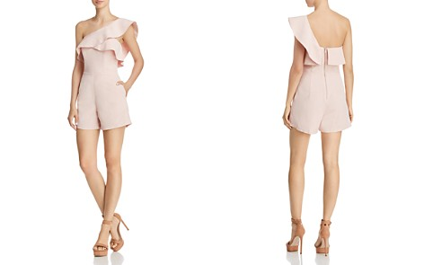 Bardot Ruffled One-Shoulder Romper - 100% Exclusive - Bloomingdale's_2