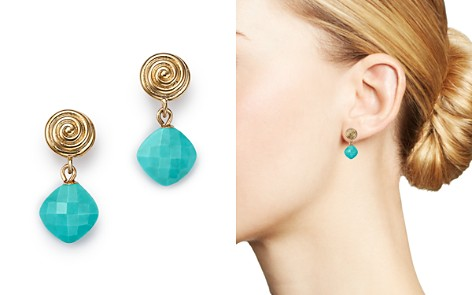 Bloomingdale's Turquoise Swirl Drop Earrings in 14K Yellow Gold - 100% Exclusive _2