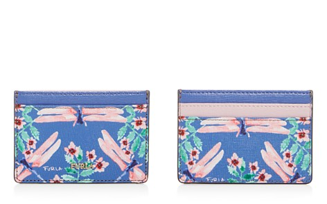Furla Babylon Floral Print Small Embossed Leather Card Case - Bloomingdale's_2