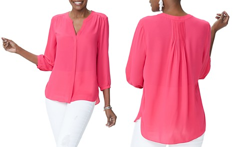 NYDJ Pleat Back Blouse - Bloomingdale's_2