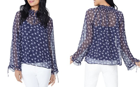 NYDJ Star-Print Ruffled Top - Bloomingdale's_2