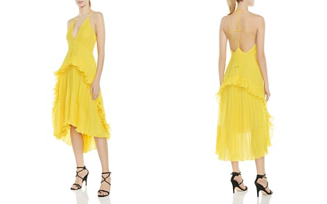 HALSTON HERITAGE Pleated Ruffled Halter Dress - Bloomingdale's_2