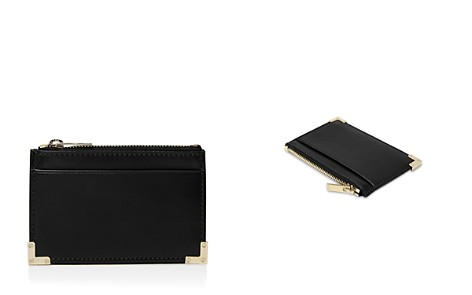 The Kooples Leather Zip Card Case - Bloomingdale's_2