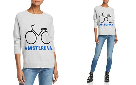 AQUA Cashmere Amsterdam Bike Cashmere Sweater - 100% Exclusive - Bloomingdale's_2