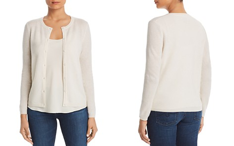 C by Bloomingdale's Crewneck Cashmere Cardigan - 100% Exclusive _2