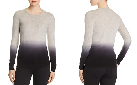C by Bloomingdale's Dip-Dye Cashmere Crewneck Sweater - 100% Exclusive _2