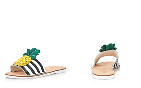 kate spade new york Women's Icarus Studded Leather Pineapple Slide Sandals - Bloomingdale's_2