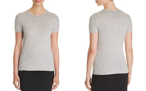 C by Bloomingdale's Cascade Embellished Cashmere Sweater - 100% Exclusive _2