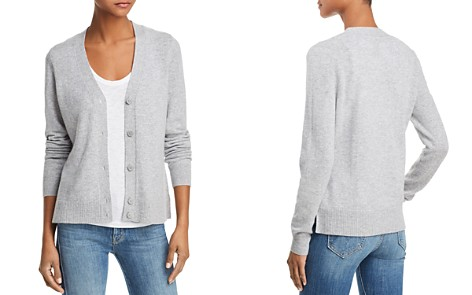 AQUA Cashmere V-Neck Cashmere Cardigan - 100% Exclusive - Bloomingdale's_2