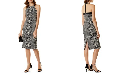 KAREN MILLEN Snake Print Sheath Dress - Bloomingdale's_2