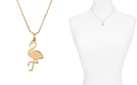 "kate spade new york Mini Flamingo Pendant Necklace, 16"" - Bloomingdale's_2"