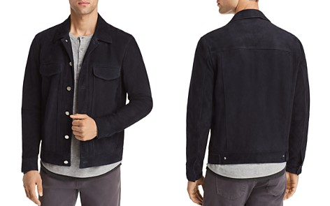 Theory Sammy Suede Trucker Jacket - 100% Exclusive - Bloomingdale's_2