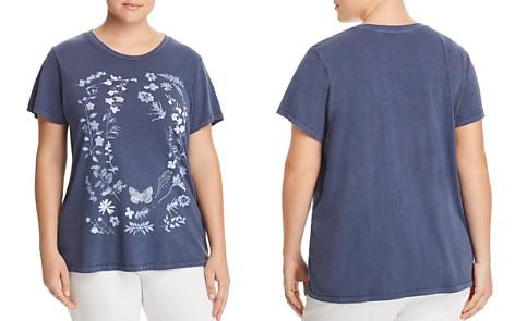 Lucky Brand Plus Floral Graphic Tee - Bloomingdale's_2