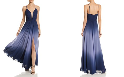 AQUA Ombré Chiffon Gown - 100% Exclusive - Bloomingdale's_2