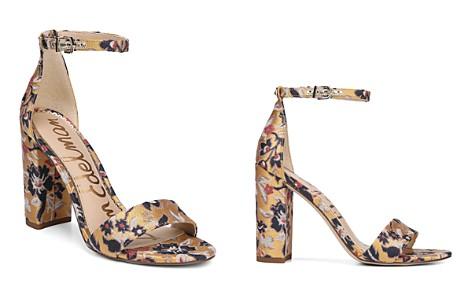 Sam Edelman Women's Yaro Gatsby Floral Jacquard Block Heel Sandals - Bloomingdale's_2